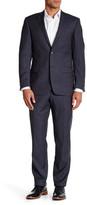 Spurr by Simon Spurr Blue Birdseye Two Button Notch Lapel Wool Suit