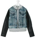 Diesel teen hooded denim jacket - kids - Cotton/Rayon - 14 yrs