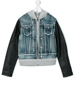 Diesel teen hooded denim jacket