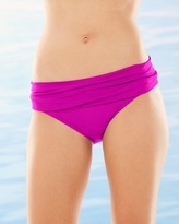 Soma Intimates Shirred Hipster Swim Bottom-Passion Fruit
