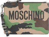 Moschino camouflage clutch bag