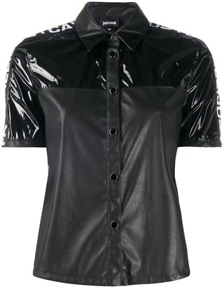 Just Cavalli Logo Panelled Shirt