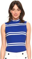 Elle Women's ELLETM Striped Mockneck Top