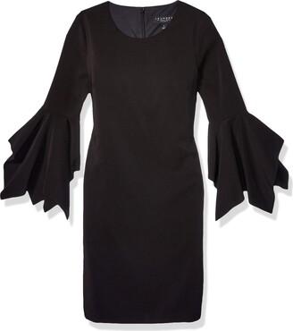 Laundry by Shelli Segal Women's Bell Sleeve Shift Dress