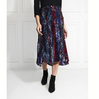 Rachel Zoe Venice Sequin Midi Skirt
