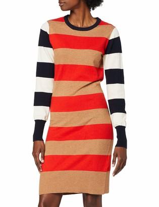Scotch & Soda Maison Women's AMS Blauw Knitted Stripe Dress