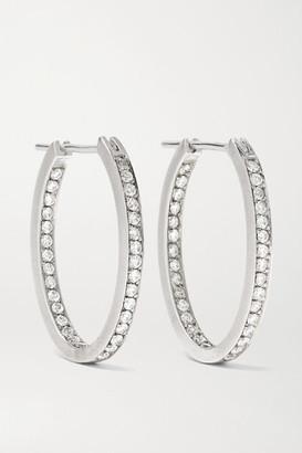 Sylva & Cie 18-karat White Gold Diamond Hoop Earrings