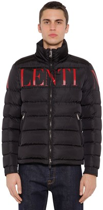 Valentino Hooded Nylon Down Coat