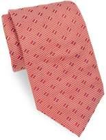 Brioni Men's Quilt Pattern Silk Tie