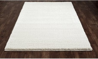 "Hickey Plush Pile Shag White Area Rug Winston Porter Rug Size: Rectangle 9'10"" x 12'10"""