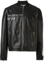 McQ by Alexander McQueen Urban Poetry print jacket - men - Lamb Skin - 48