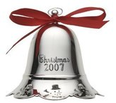 Towle 2007 Silver-Plated Musical Bell Ornament