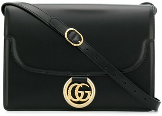 Gucci logo plaque satchel