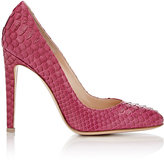 Gianvito Rossi Women's Python Roma Pumps-PINK