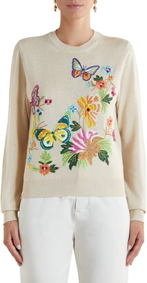 Etro Floral Butterfly Embroidered Sweater