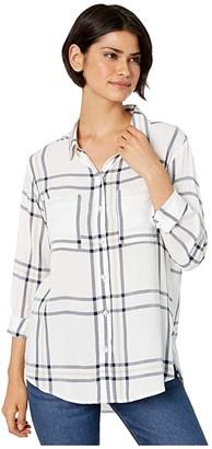 Sanctuary Favorite Boyfriend Shirt (Angeleno Plaid) Women's Clothing
