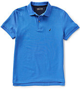 Nautica Short-Sleeve Slim-Fit Solid Deck Polo