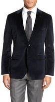 HUGO BOSS Jewels Two Button Notch Lapel Trim Fit Velvet Dinner Jacket