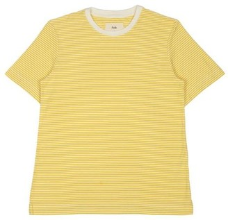 Folk 1 X 1 Stripe Tee Light Gold Ecru - 0 / / 26