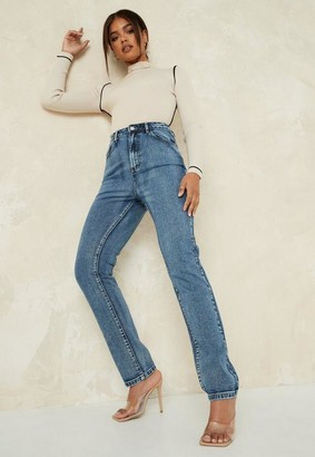 Missguided Blue Longer Length Wrath Jeans