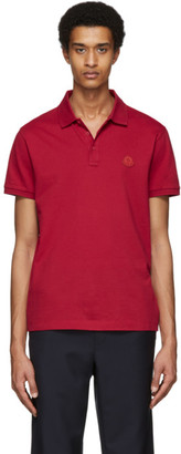 Moncler Red Logo Polo