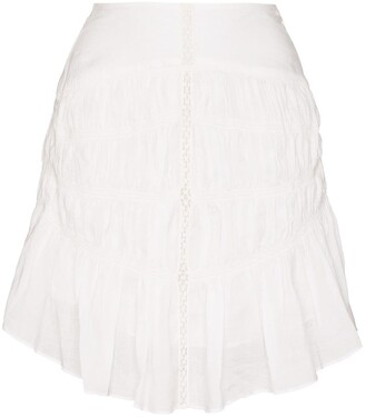 Isabel Marant Sidney lace ruffled hem skirt