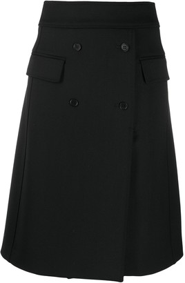 P.A.R.O.S.H. Double-Breasted Wrap Skirt