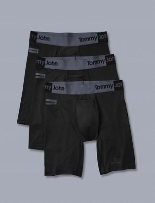 Tommy John 360 Sport 2.0 Pocket Boxer Brief 3 Pack, Black