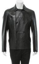 Bottega Veneta Leather Double-Breasted Coat