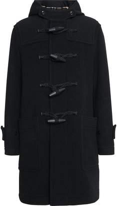 Burberry Vintage Check Detail Wool Blend Hooded Duffle Coat
