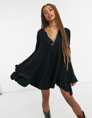 Free People Olivia tunic in black