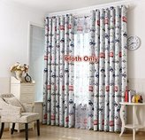 LQF Window Drapes Room Darkening Drapes Cars Printed Thermal Insulated Blackout Grommet Curtains for Kids Room, 1 Panel , W40 by L96 inch
