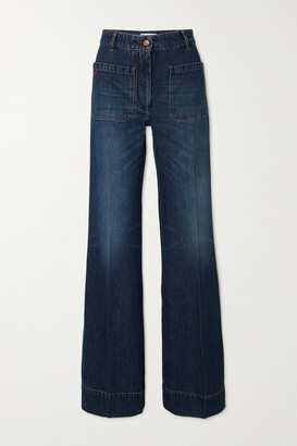 Victoria Beckham - Alina High-rise Wide-leg Jeans - Blue