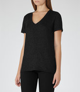 Reiss Leia Metallic T-Shirt