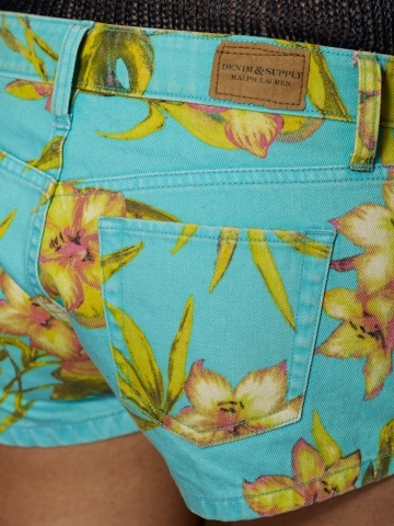 Denim & Supply Ralph Lauren Tropical Floral Mini-Short