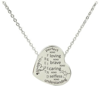 Beauty of The Heart Necklace by Pink Box BEST FRIEND SILVER