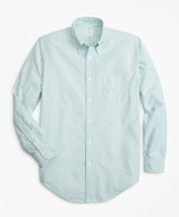 Brooks Brothers Regent Fit Oxford Narrow Stripe Sport Shirt