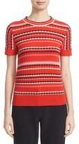 Kate Spade Women's Scallop Stripe Cotton Blend Sweater
