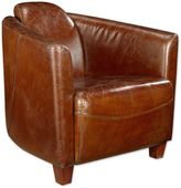 Moe's Home Collection Salzburg Leather Club Chair in Brown