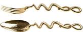 Roberto Cavalli Python Gold Serving Spoon & Fork