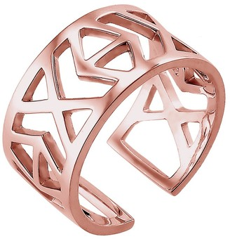 Elli ElliWomen's 925 Sterling Silver Rose Gold Plated Adjustable Ring