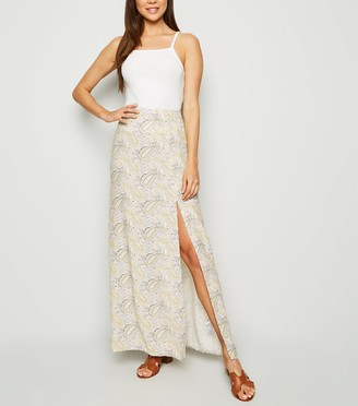 New Look Paisley Split Hem Maxi Skirt
