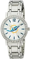 Game Time NFL Women's 10027049 All Star Analog Display Japanese Quartz Silver Watch