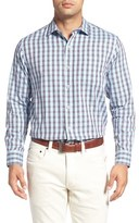 Tommy Bahama Men's Big & Tall Cayes Regular Fit Plaid Sport Shirt
