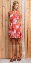 Greylin Jayme Floral Cold Shoulder Day Dress