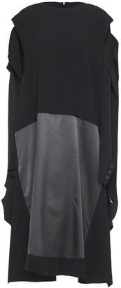 Maison Margiela Draped Paneled Twill And Gabardine Dress