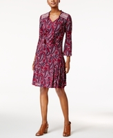 Style&Co. Style & Co Style & Co Petite Paisley-Print Peasant Dress, Created for Macy's