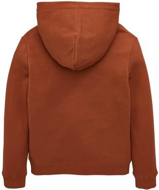 Calvin Klein Jeans Boys Flock Logo Hoodie - Cognac