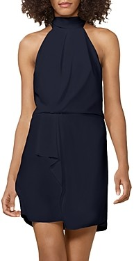 Halston Mock Neck Mini Dress - 100% Exclusive