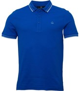 Duck and Cover Mens Vertex Tipped Polo Sapphire